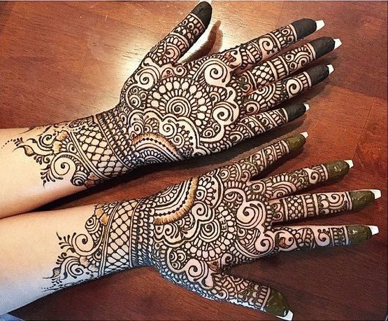 Geometric pattern mehendi designs
