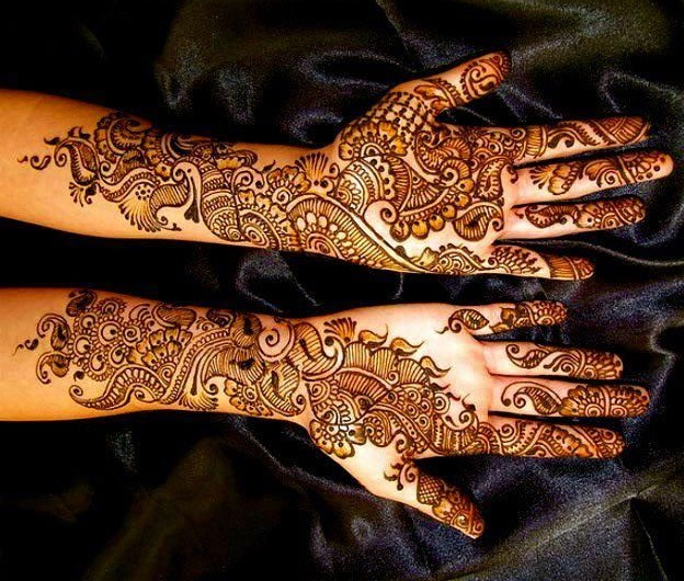 Simple mehendi art work