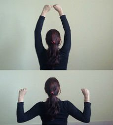 Arm pull down exercise