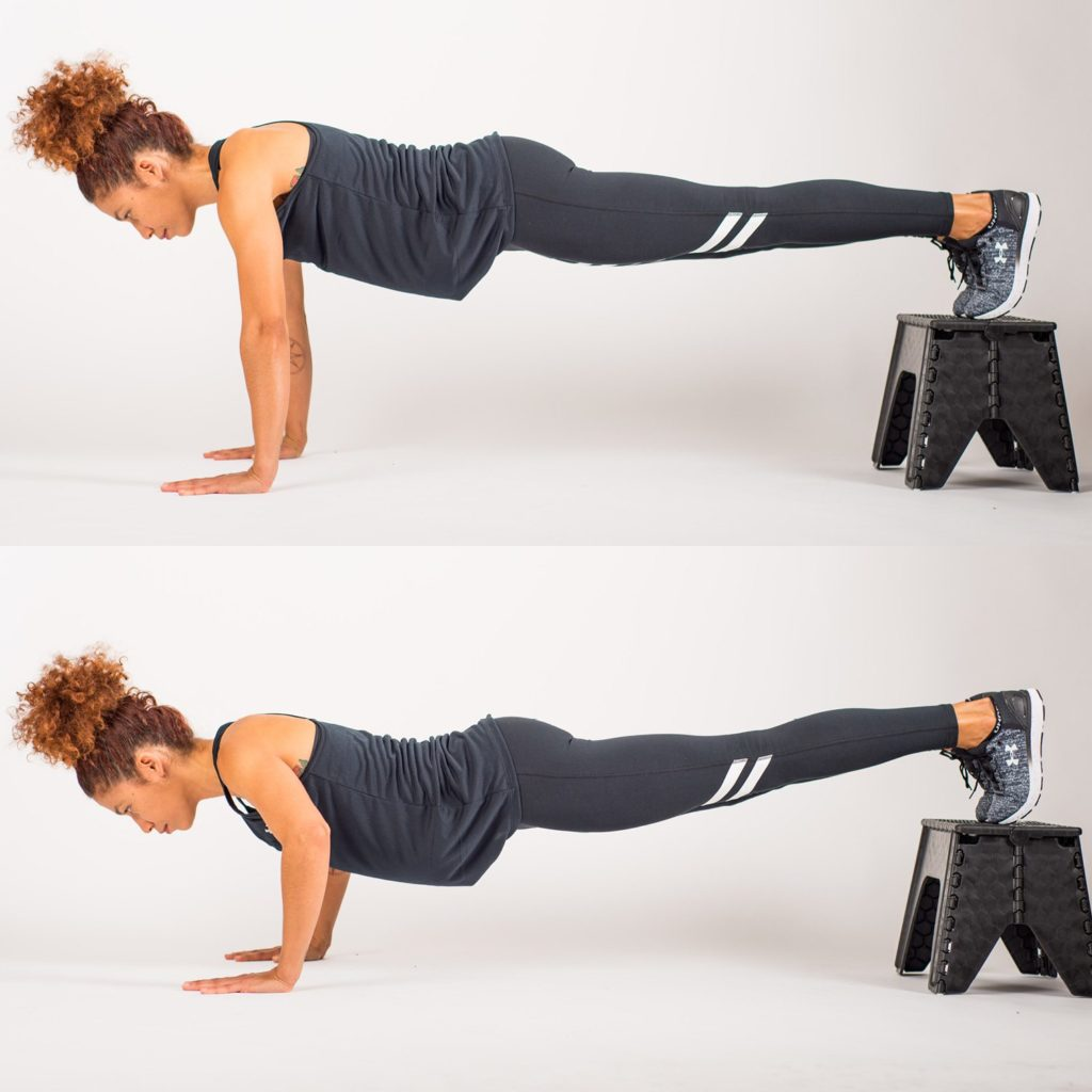 Elevated push ups