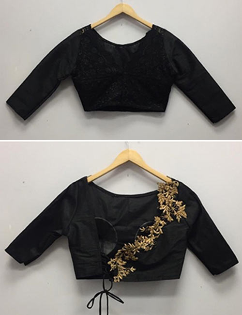Floral patch work blouse