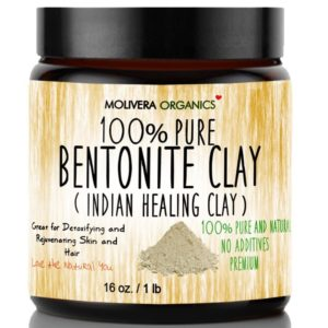 Molivera Organics Bentonite Clay for Detoxifying and Rejuvenating Skin and Hair