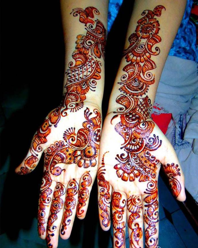 Colorful mehendi