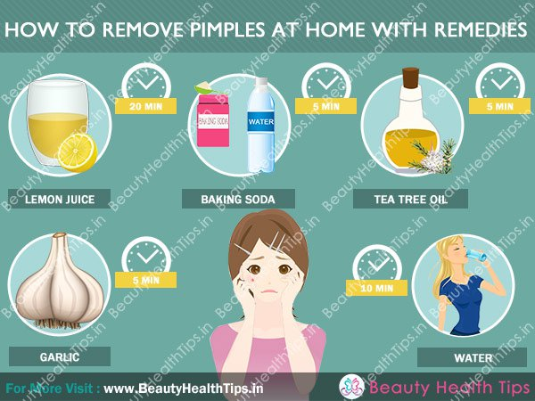 how to remove pimples on face