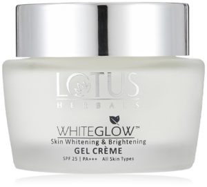 Lotus Herbals Whiteglow skin whitening and lightening gel crème