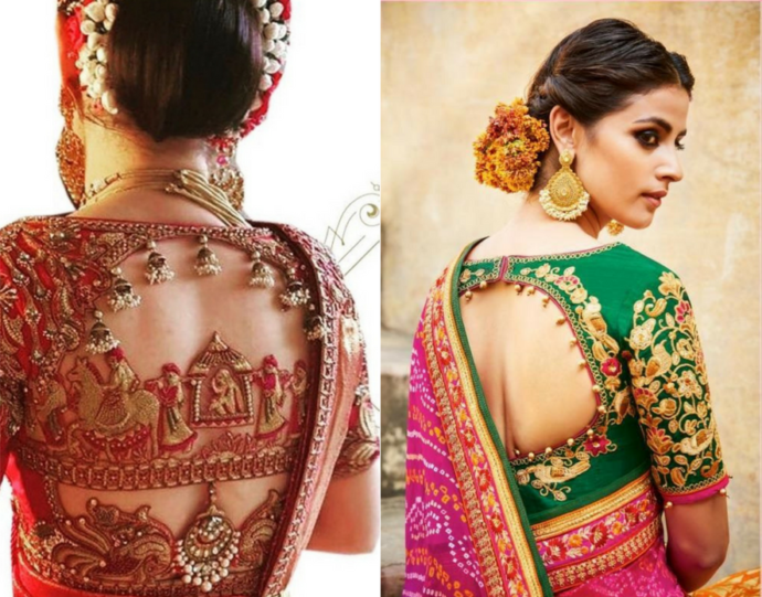 The ultimate bridal blouse design with a round cut