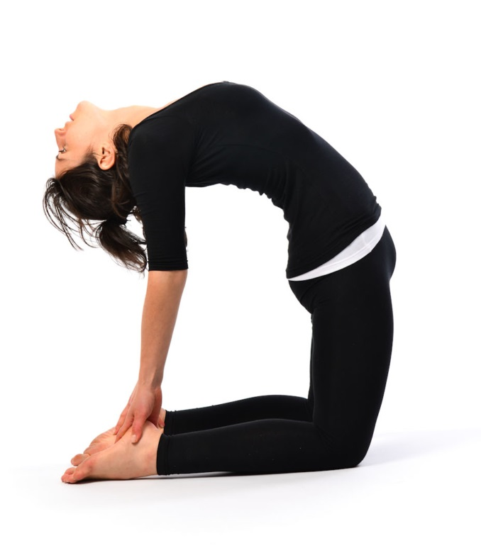 Ushtrasana or the camel pose