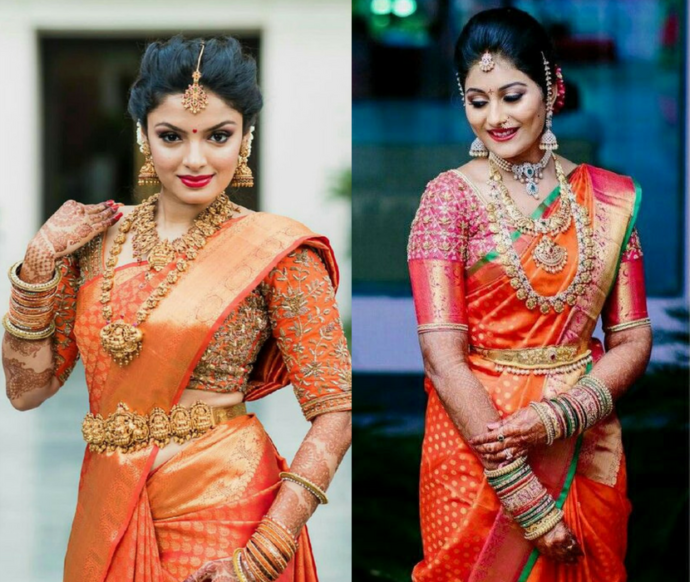 Zari work to complement a South Indian wedding
