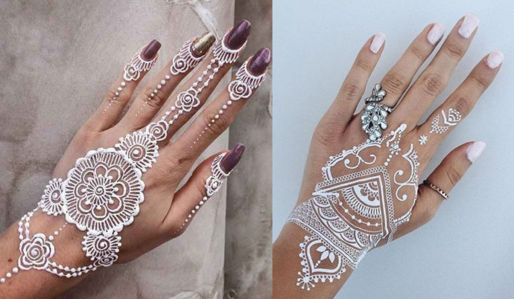 Best White Mehndi Designs For You