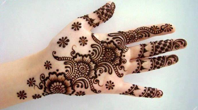 Arabic mehndi design for dulhan