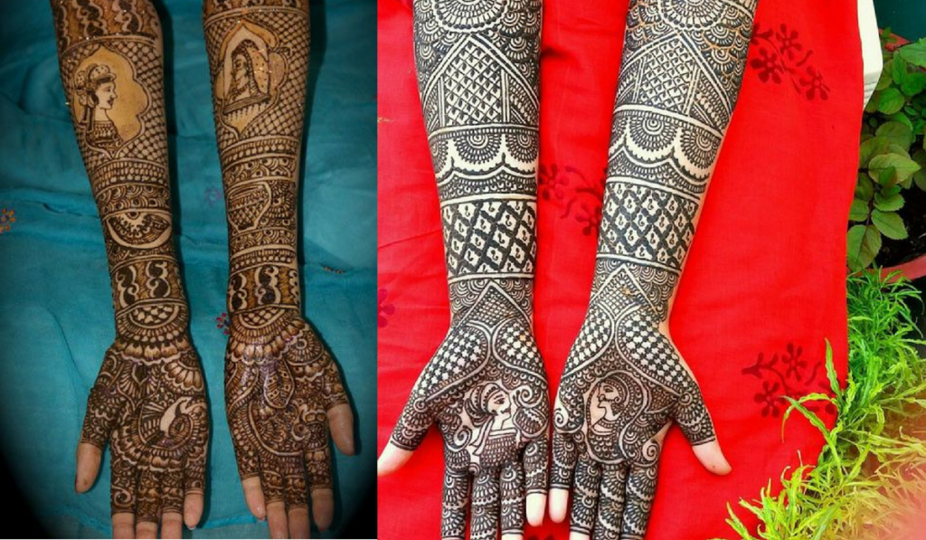 Body art in black and brown