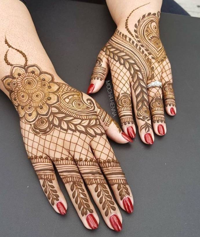 Small Indian Home Design: Easy To Try Classic Mehndi / Henna Designs With Images