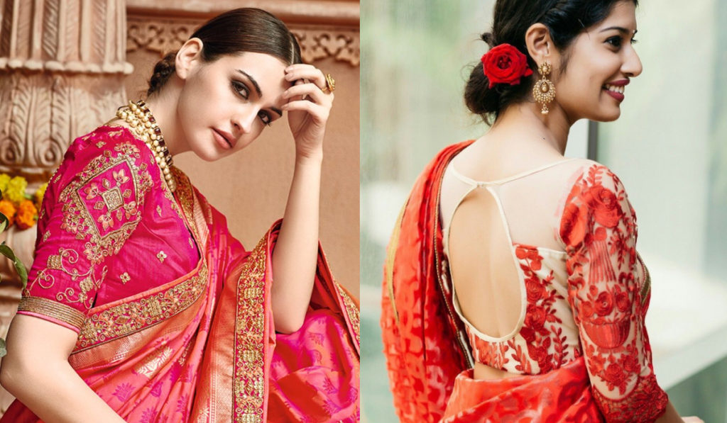Fresh color blouse for silk saree