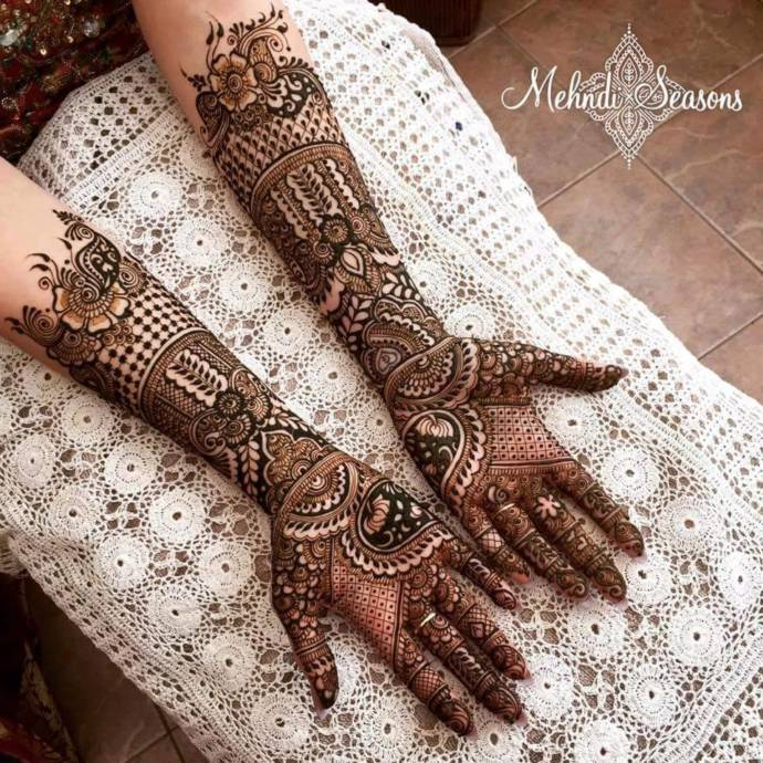 Full hand bridal mehandi design