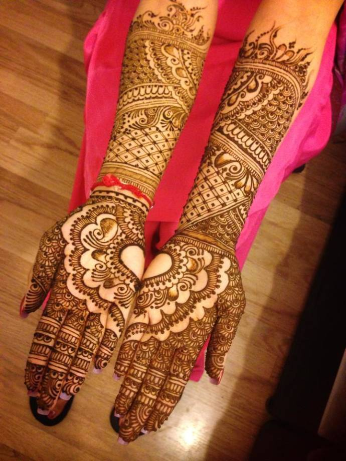 Full hand bridal mehandi