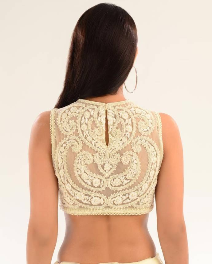High neck blouse back design