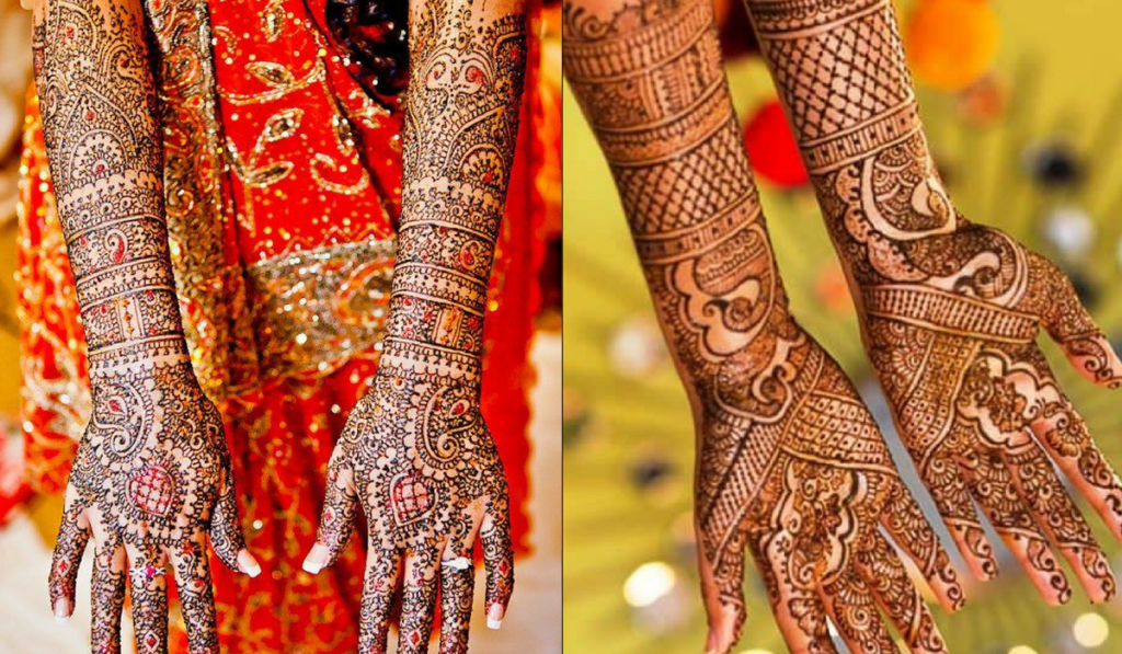 How to integrate color into mehendi designs
