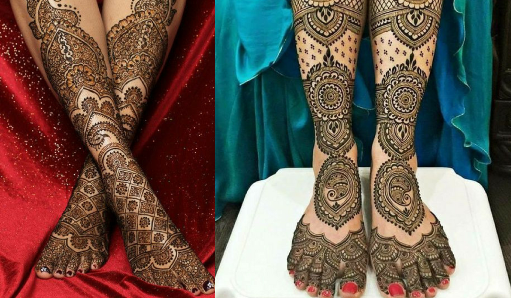 Jaali Mehndi Design with delicate patterns