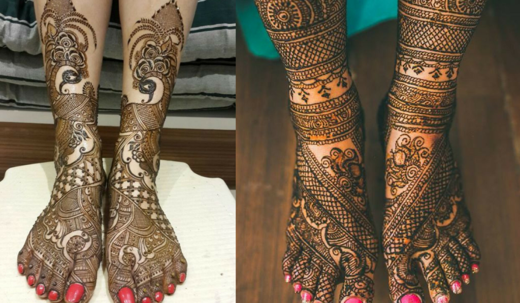 Lines for Legs or Peacock Story Mehndi Design