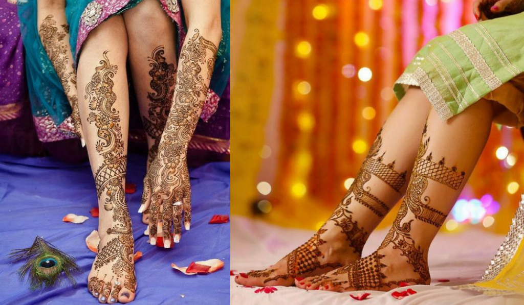 Matching Mehndi Design for hands and feet