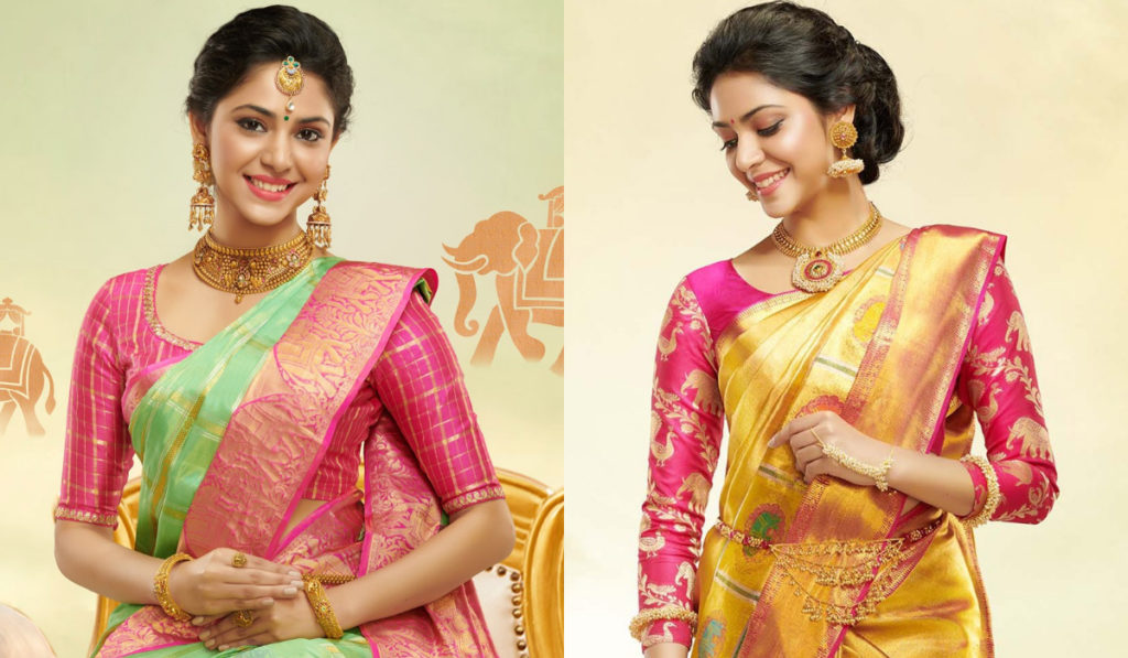 Pretty pink color blouse for silk saree