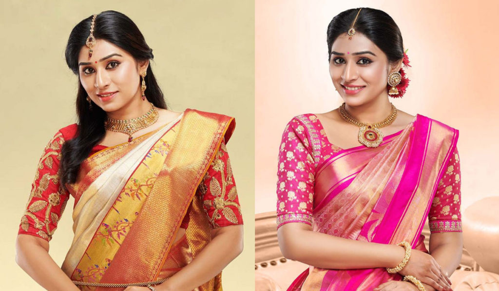 Silk Saree Blouse Designs Front And Back Collection Catalogue