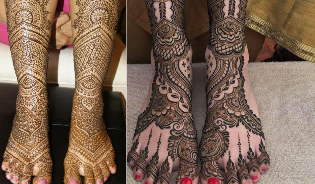 The Leafy look to Mehndi Design