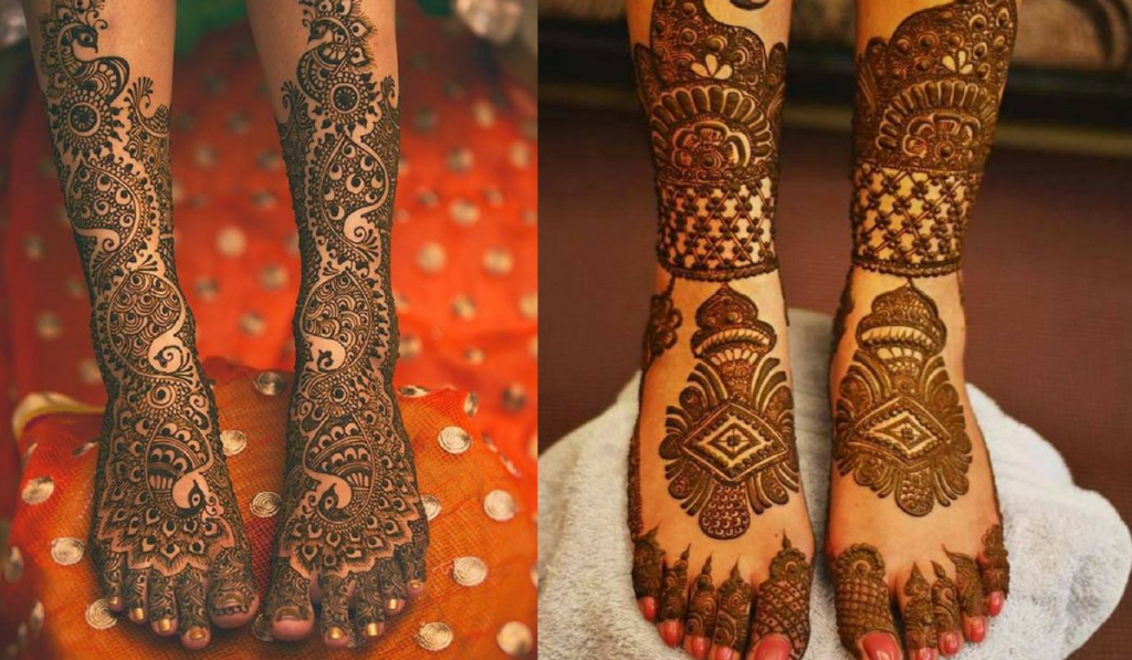 The South Indian touch to your Bridal Mehndi Design