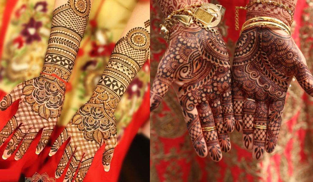 The art of lines carved into a Mehendi Design