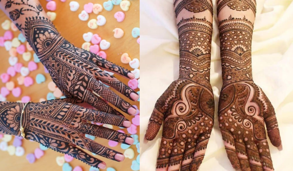 The little circular detail to Traditional Mehendi design