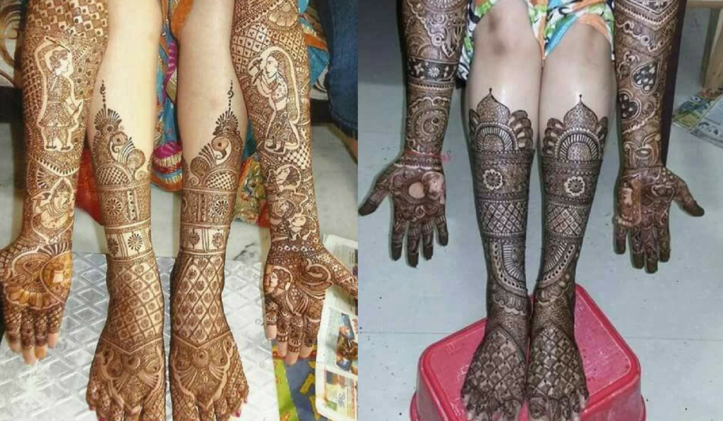 Traditional Indian style Mehndi Design