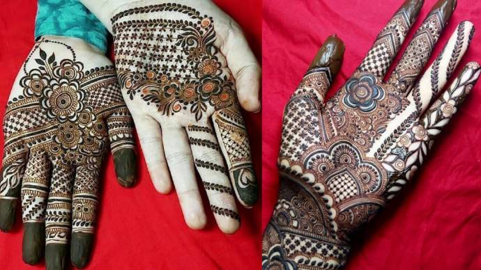 Front Hand Mehndi Designs Easy And Simple Henna Designs For Palms