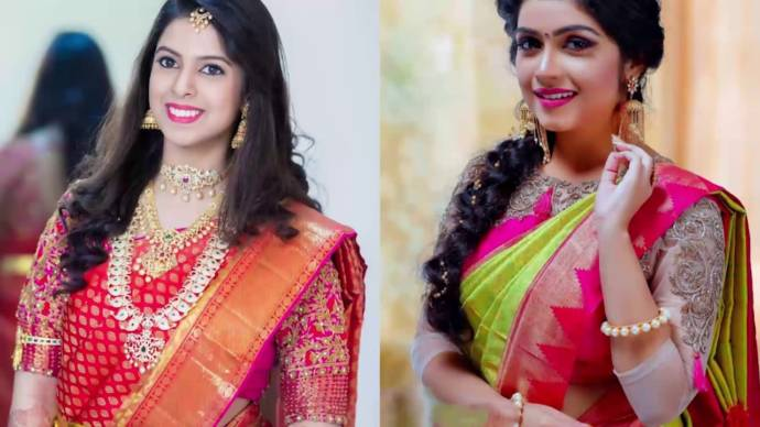 55510338a ... to match the preference of people attending every formal and  traditional occasion. Also the silk saris are available in different designs  and pattern so ...