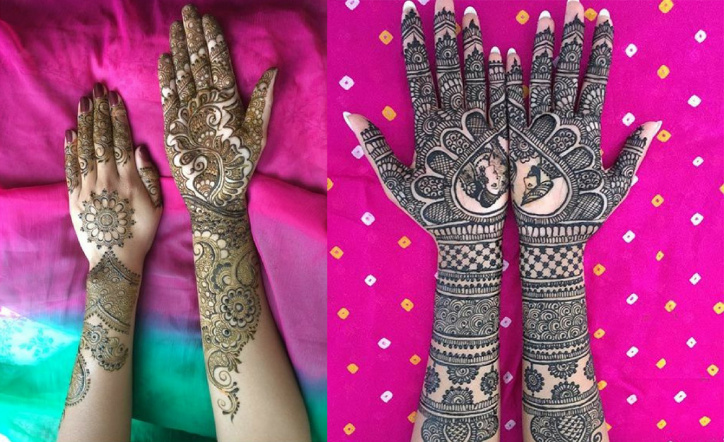Bridal Mirror mehndi design