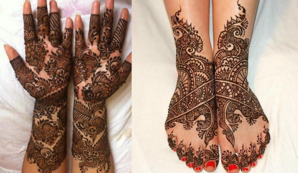 Enrich your hands or legs with intricate patterns