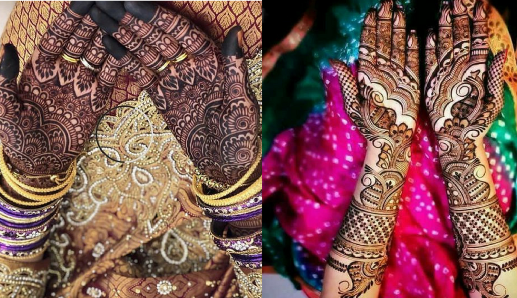 Flower motif trails mehndi