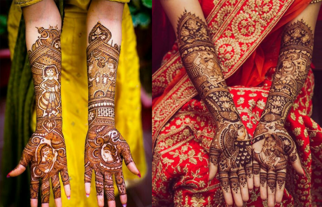 Indian wedding bridal mehndi