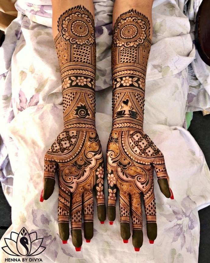 latest bridal mehndi designs collection for full hands 2019