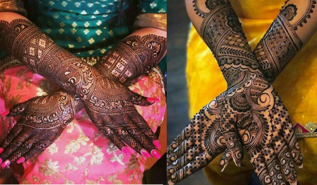The Traditional Chequered or Diamond Pattern Mehendi Design