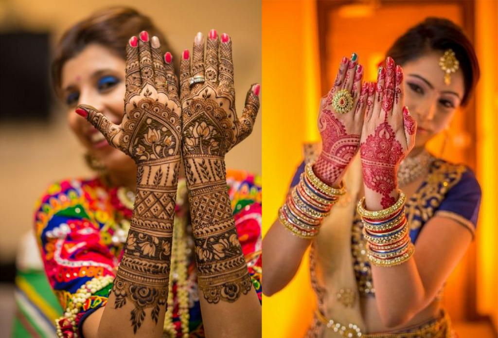 The full bridal hand design