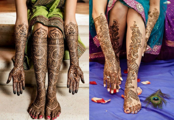 The large mehndi trail design