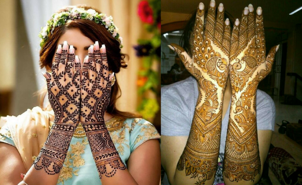The lattice mehndi design