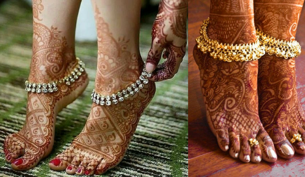 The minimalistic leg mehndi