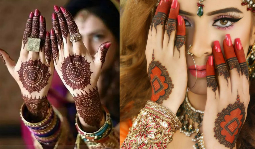 The red glamour mehndi design