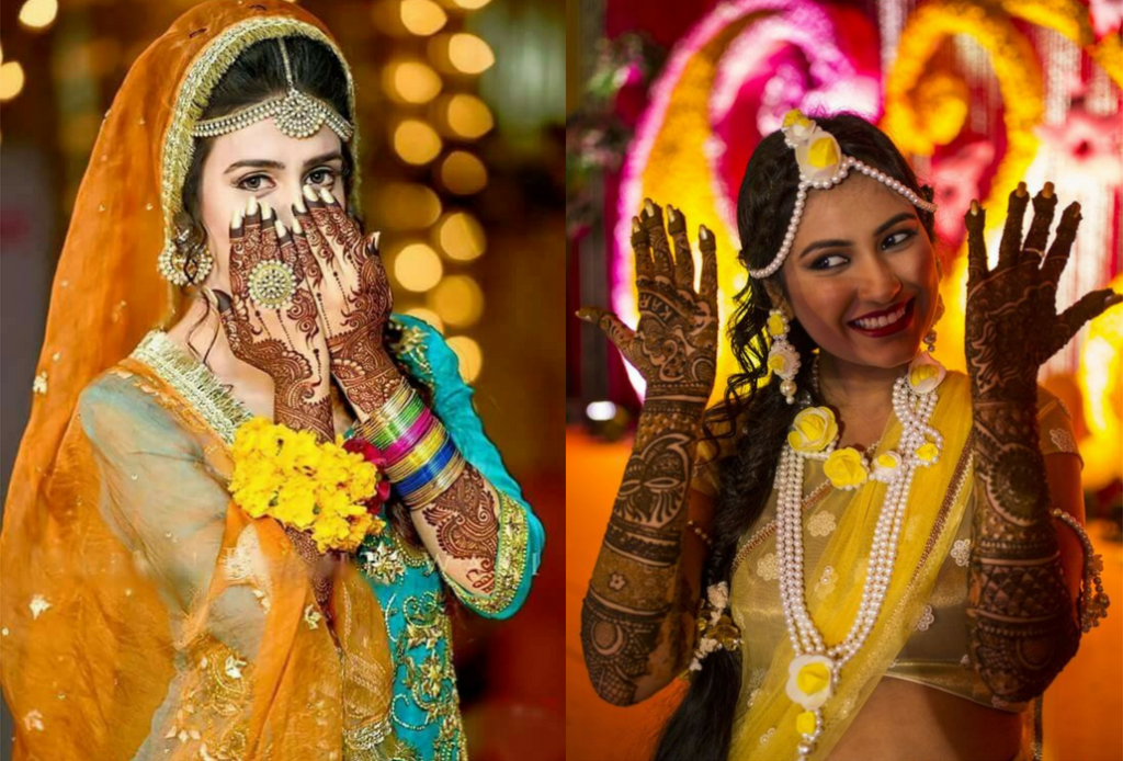 The traditional bridal mehndi