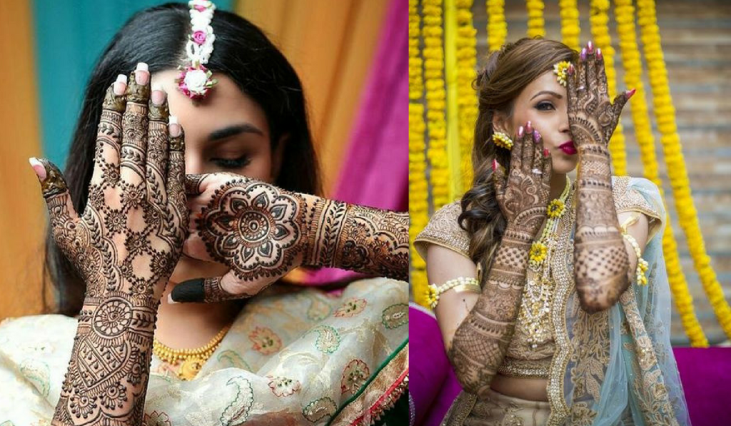The traditional full mehndi