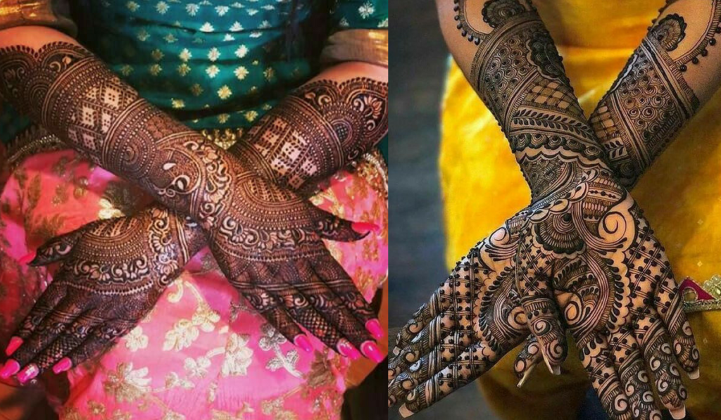 Whimsical mehndi design