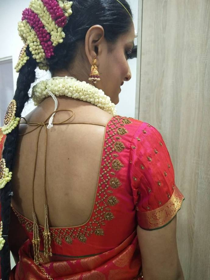 simple blouse design for wedding