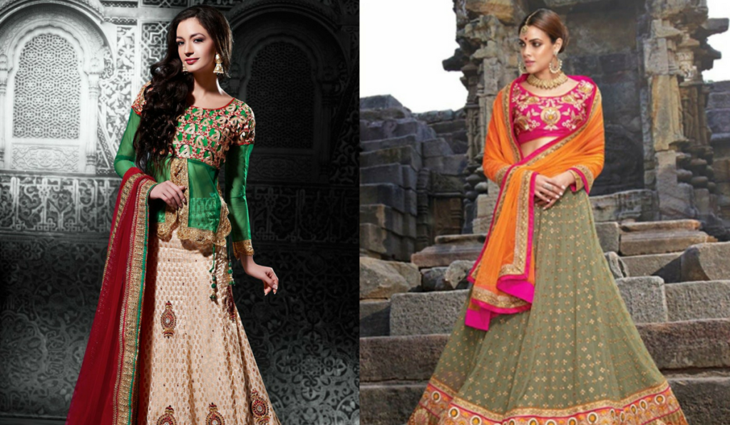 Blouse designs for heavy work lehenga choli