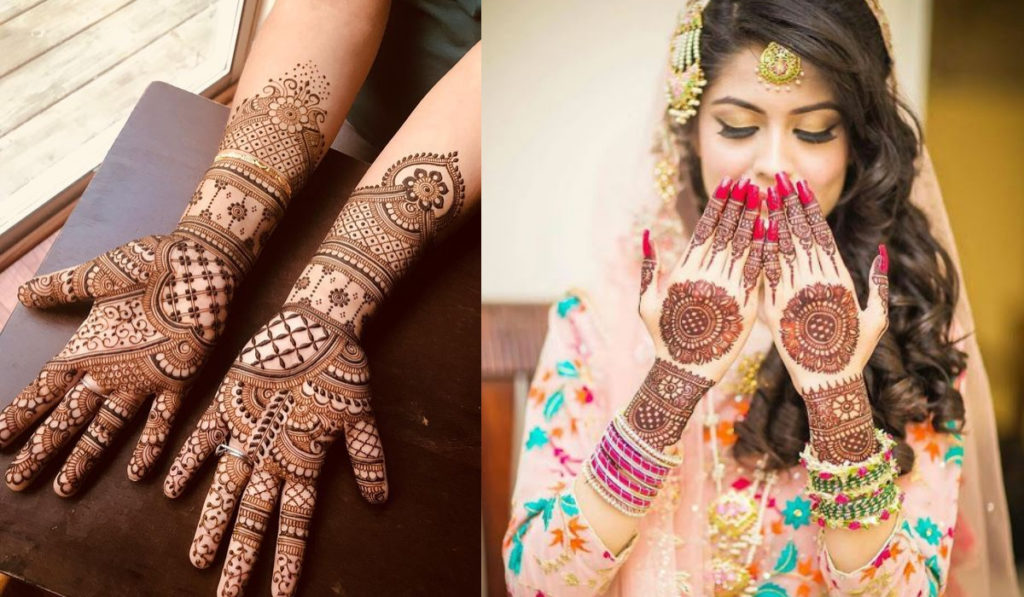 Circular Motif and Circular Flowers for Bangle Style Mehendi Design